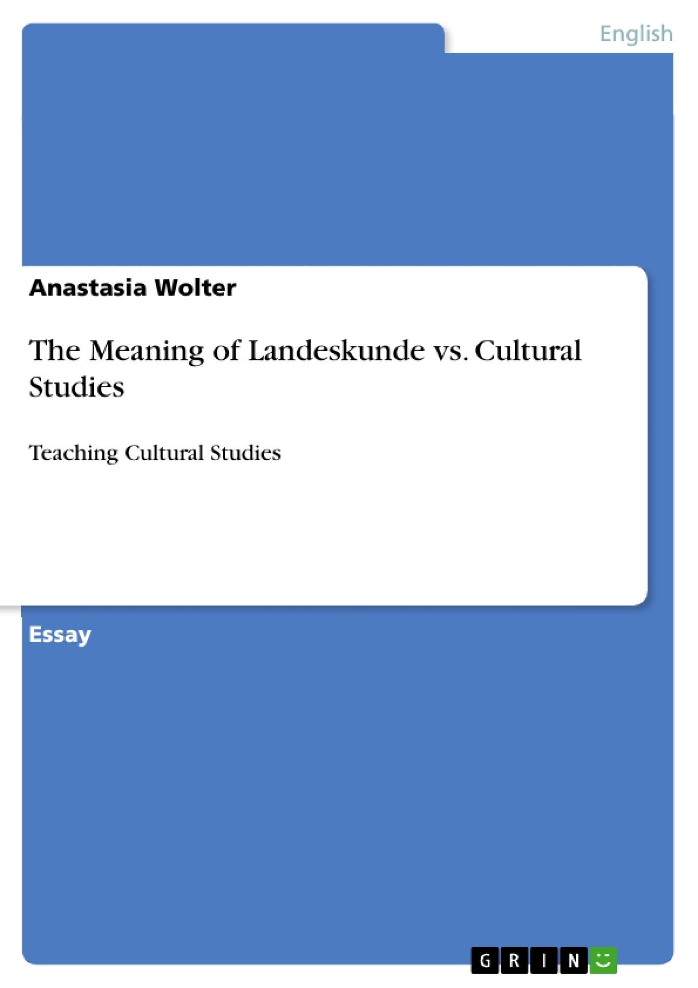 Example of culture studies essay
