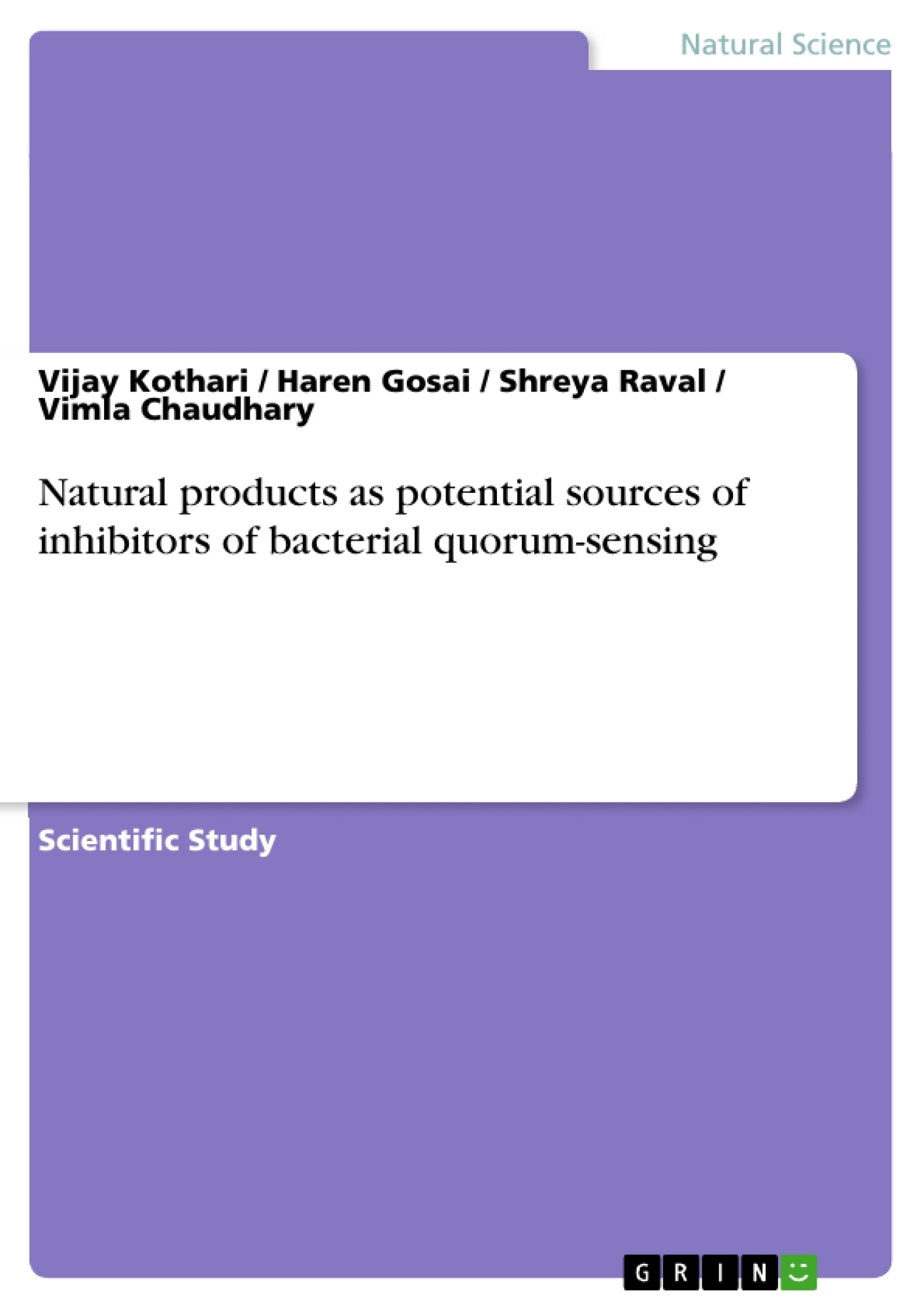 Natural product thesis