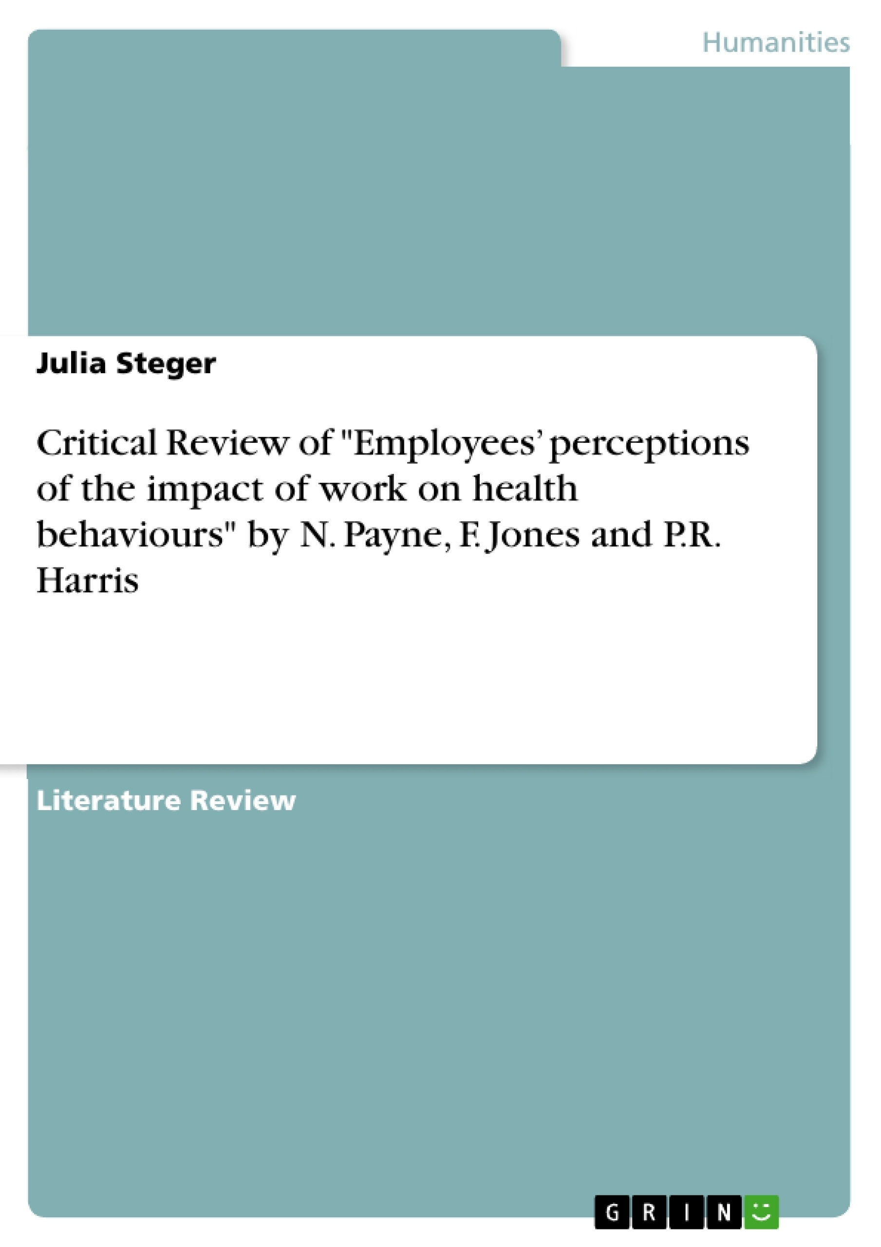 perceptions of health essay Stress and disease free life - understanding perceptions of health, disability, illness and behaviour.