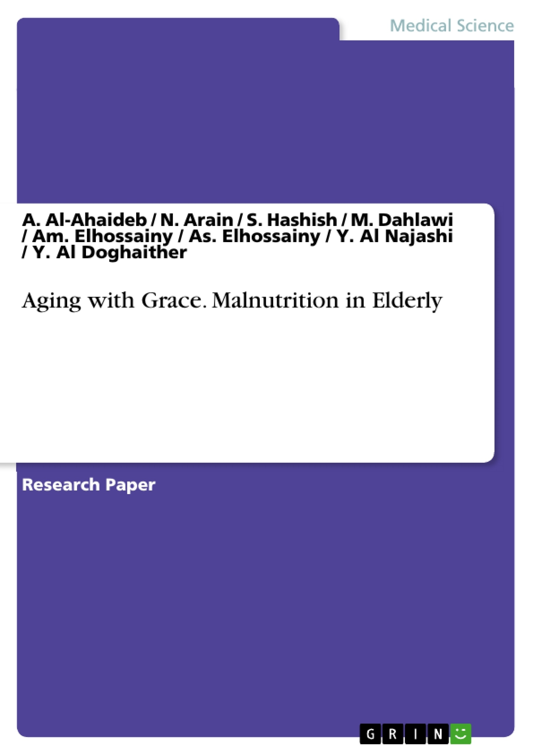 aging grace malnutrition in elderly publish your master s malnutrition in elderly publish your master s thesis bachelor s thesis essay or term paper