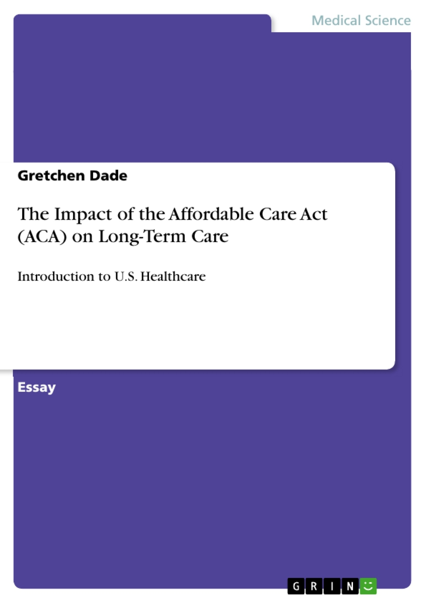 Thesis on long term care