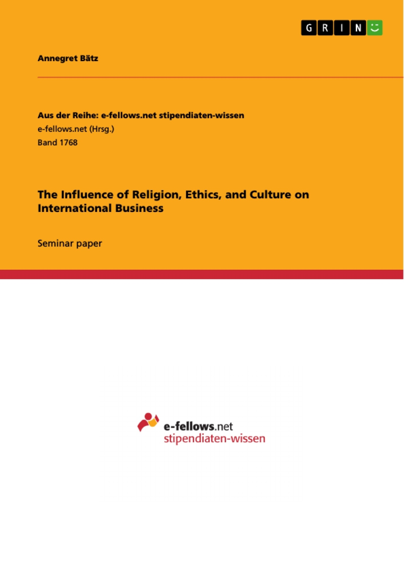 the influence of religion ethics and culture on international the influence of religion ethics and culture on international publish your master s thesis bachelor s thesis essay or term paper