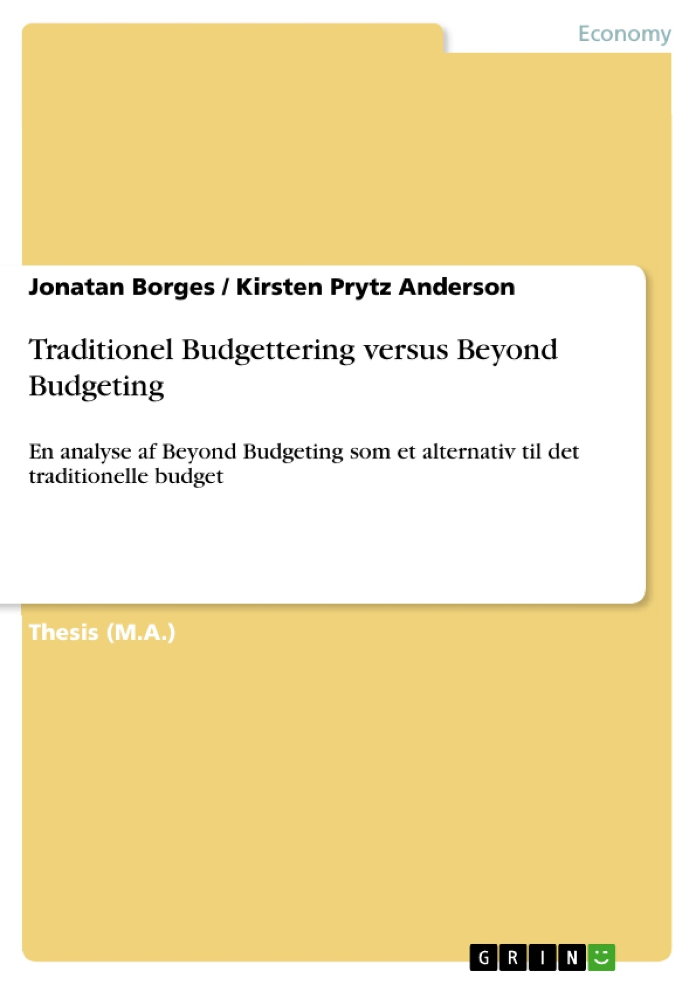 Beyond Budgeting Practice -- a Case Study