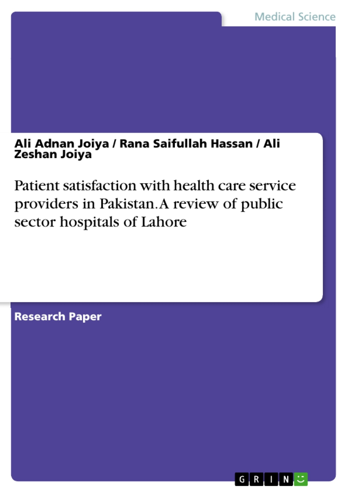 dissertation health patient public satisfaction service Patient satisfaction data can be extensively used in various ways within a health care organization and also by other entities outside that organization such as accreditation agencies, business coalitions, and health plans.