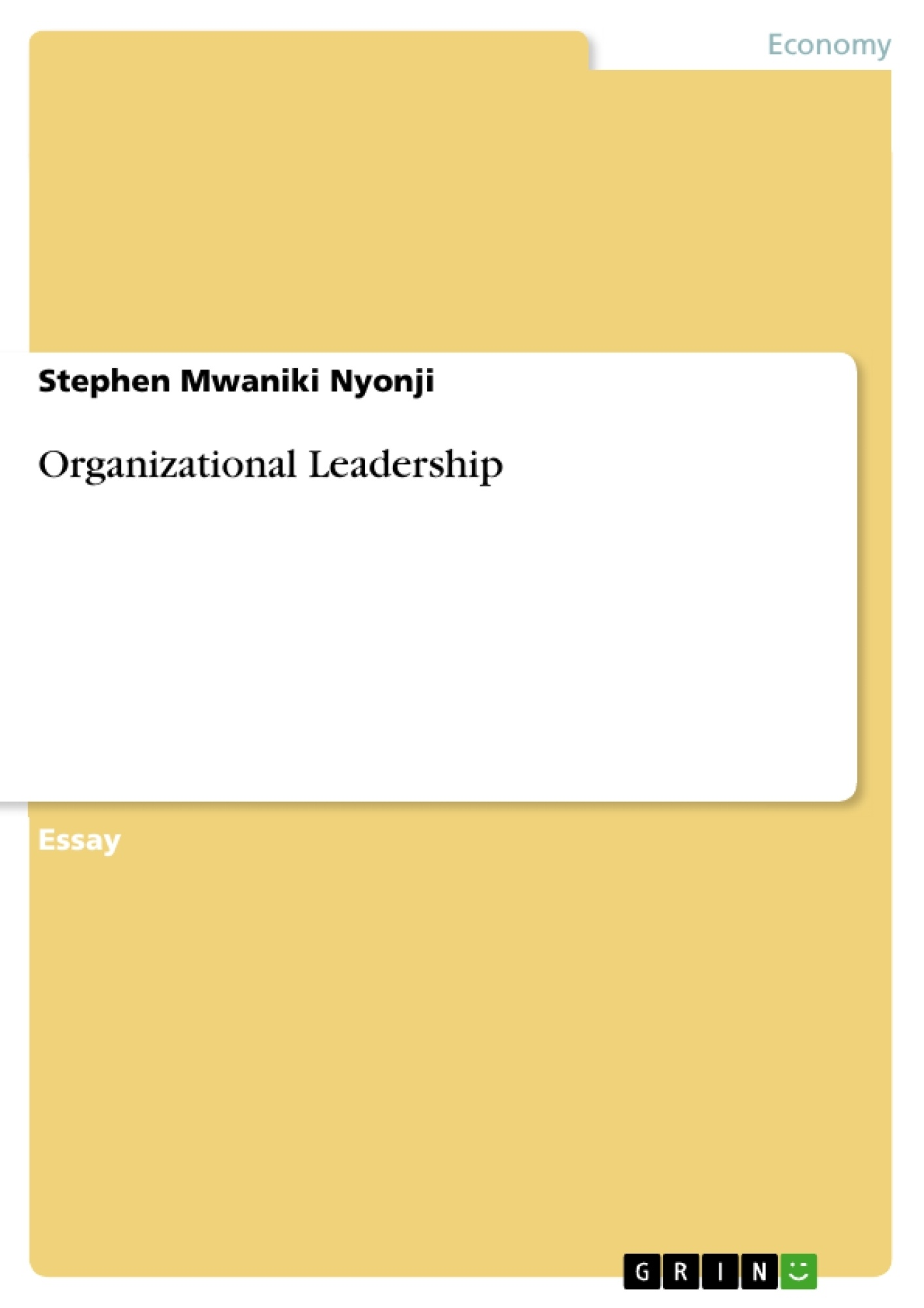 Organization thesis paper