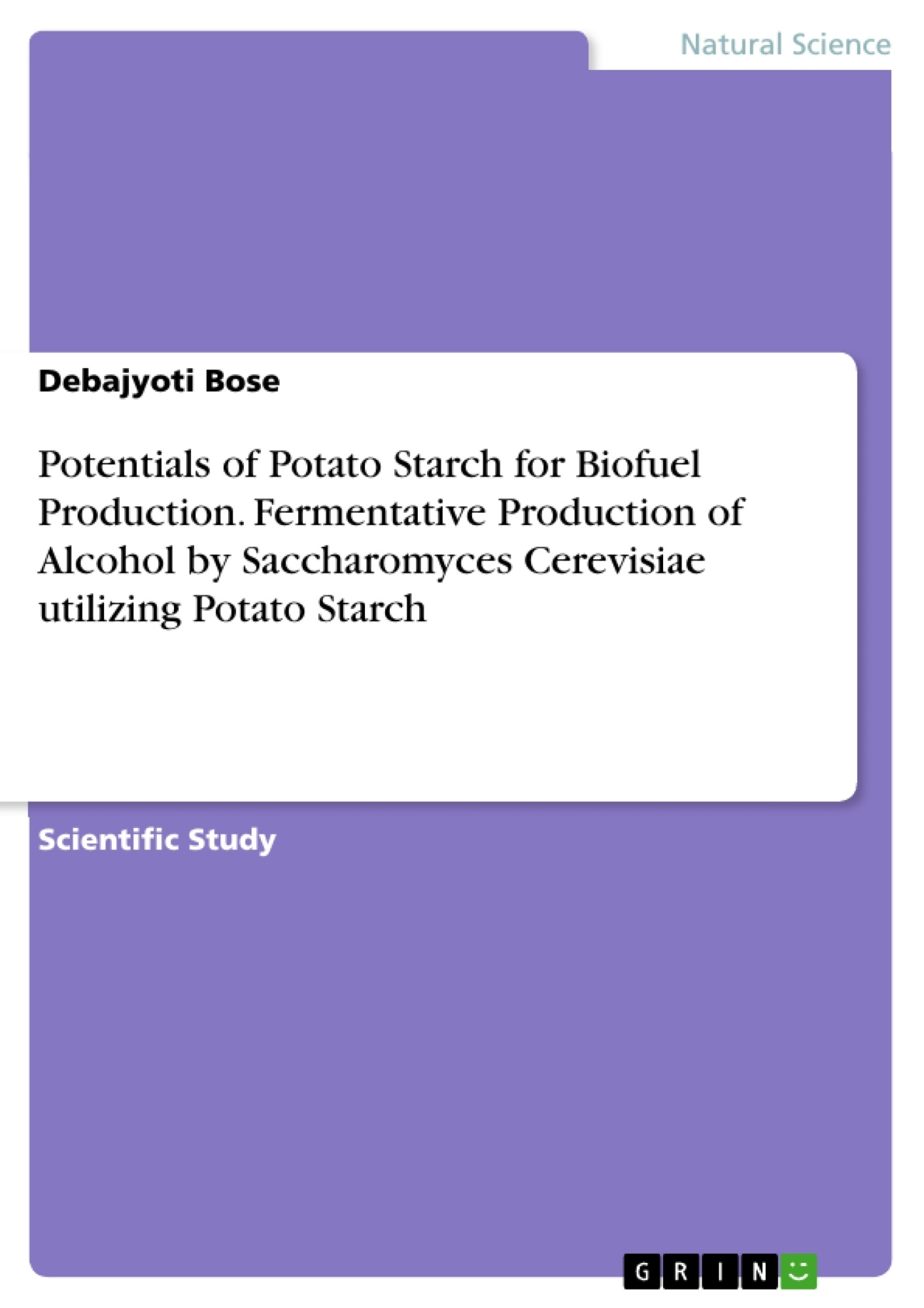 thesis on bioethanol production