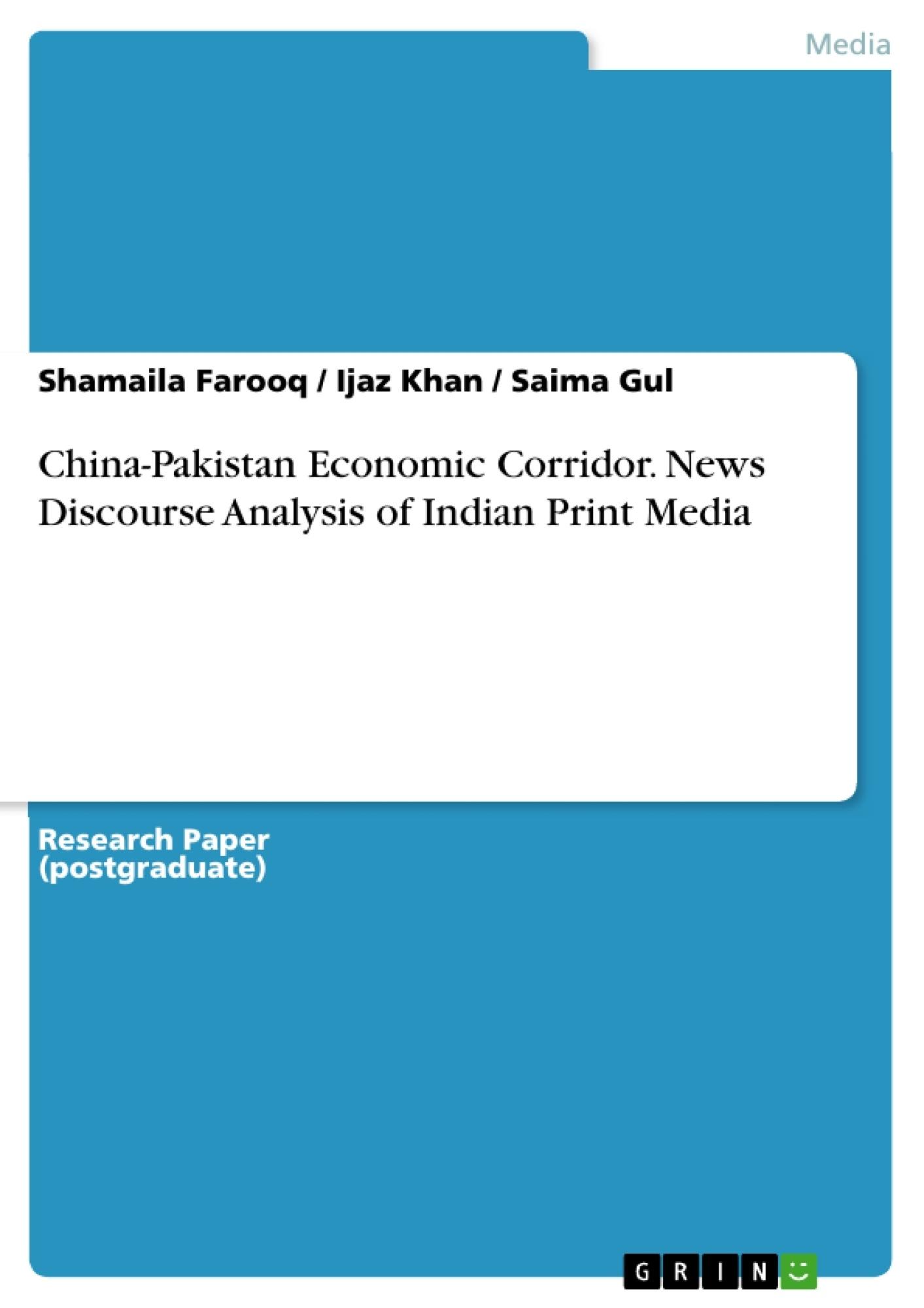 china pakistan economic corridor news discourse analysis of