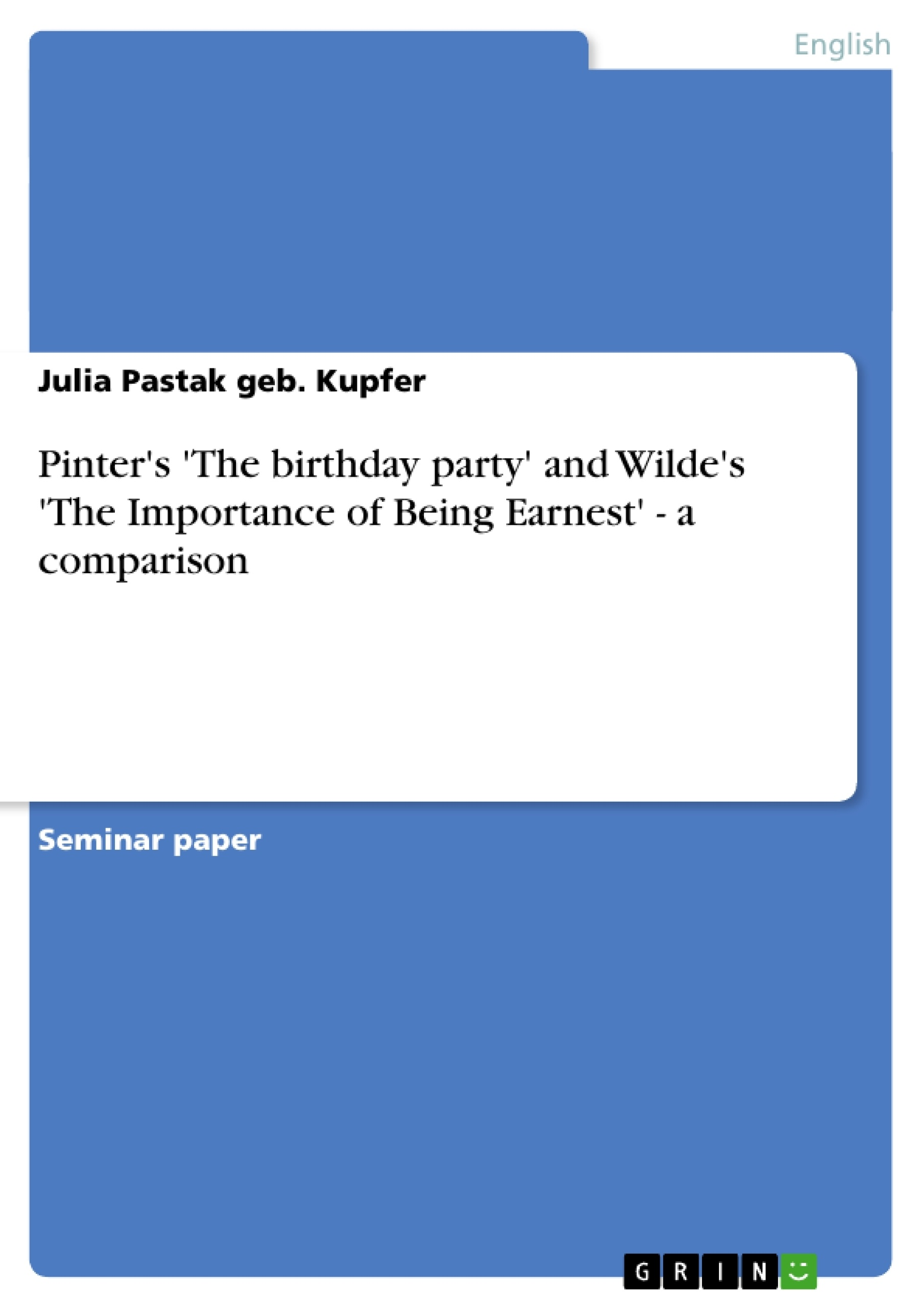 victorian era and the importance of being earnest essay This free english literature essay on essay: the importance of being earnest is perfect for english literature students to use as an example  in the victorian era .