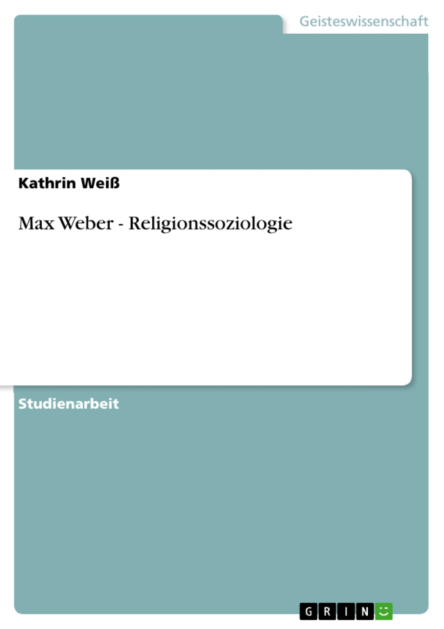 max weber and religion essay Introducing the student to the work of a great sociologist, this book opens with a comprehensive biographical essay on weber's life and work and includes his essays.