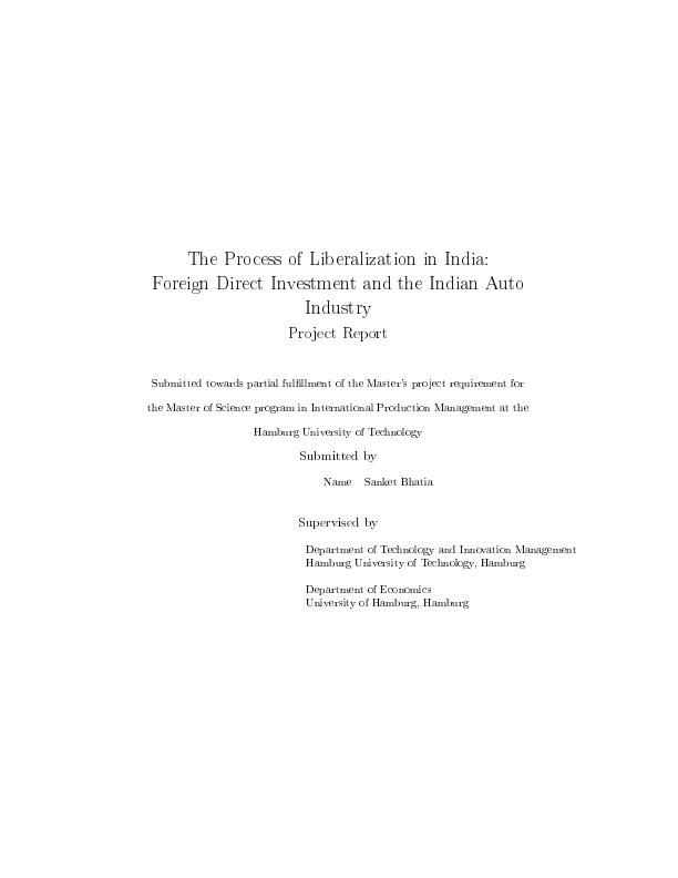 foreign direct investment dissertation This dissertation explores the effects of foreign direct investment (fdi) inflows on economic growth of emerging economies in the latin american and south east asian regions.