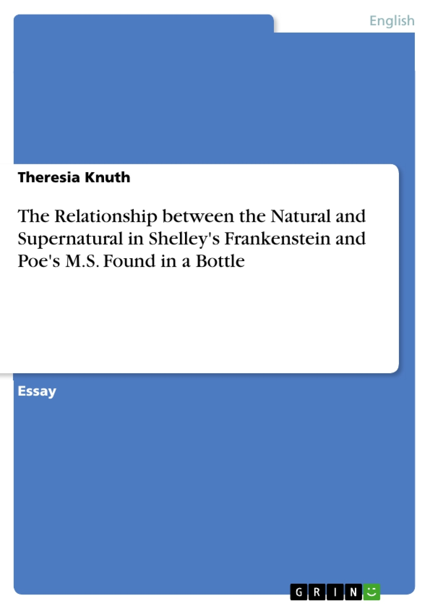 the relationship between the natural and supernatural in shelley s the relationship between the natural and supernatural in shelley s publish your master s thesis bachelor s thesis essay or term paper
