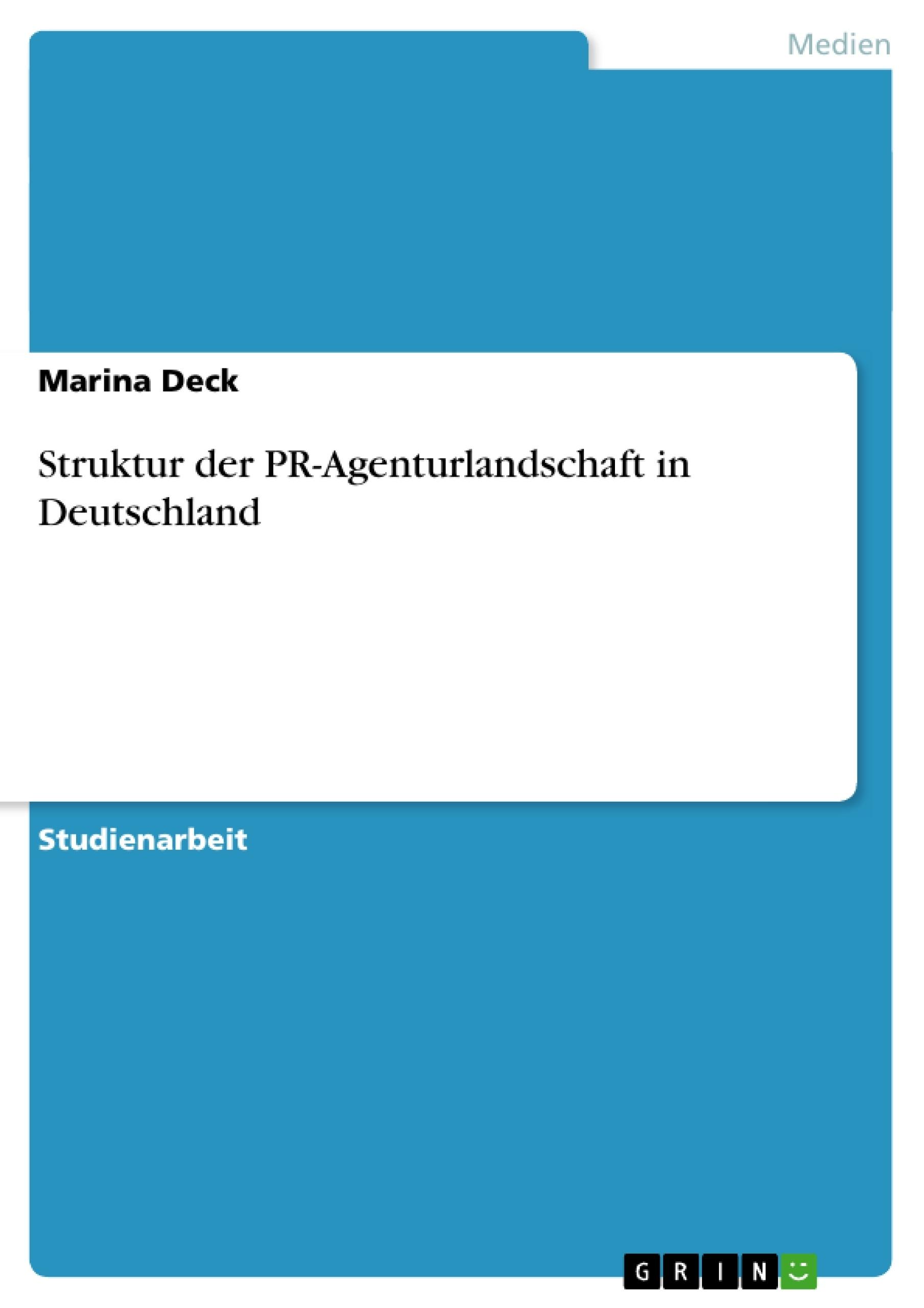 Struktur der pr agenturlandschaft in deutschland for Minimalismus hausarbeit