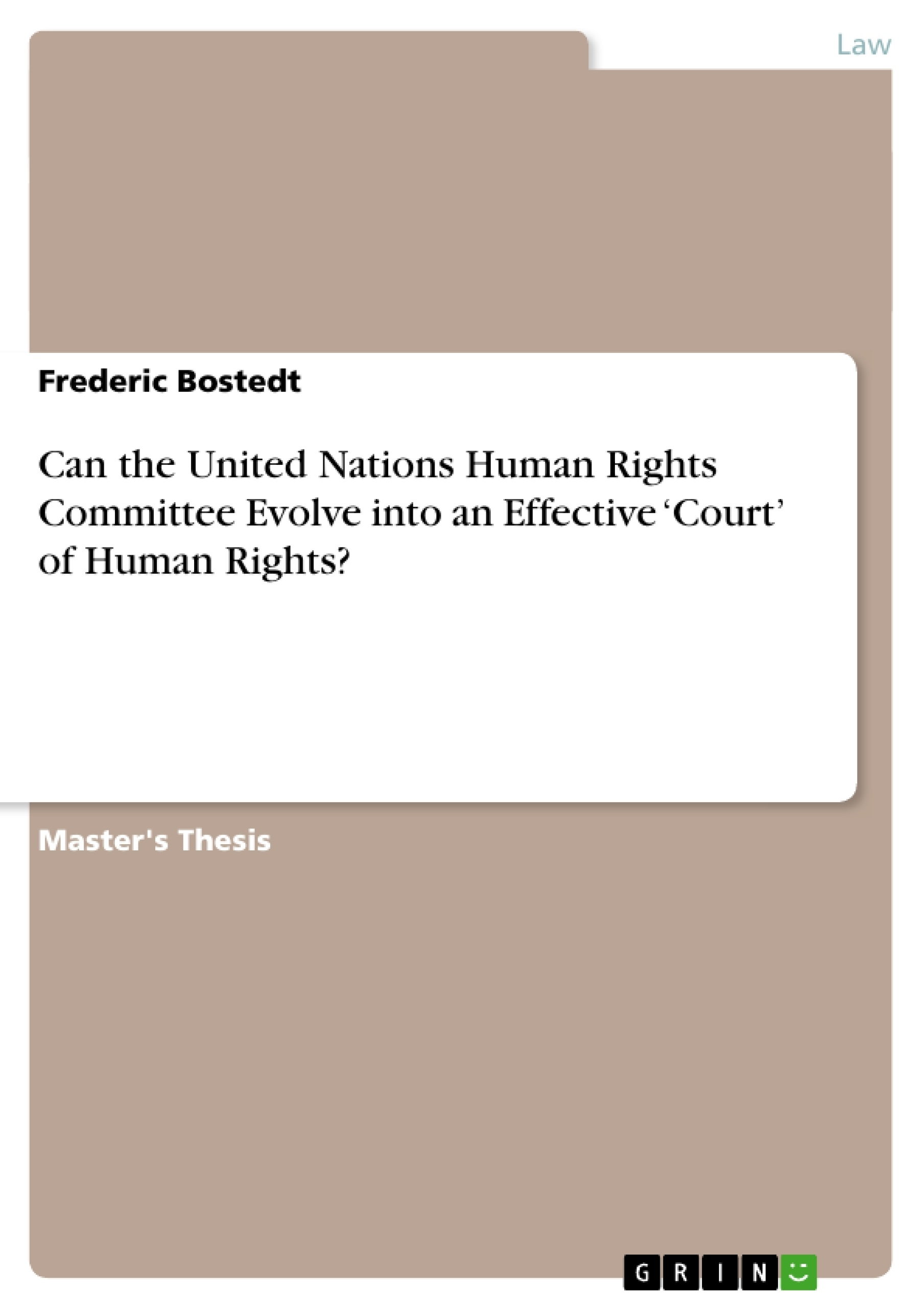 Master thesis human rights