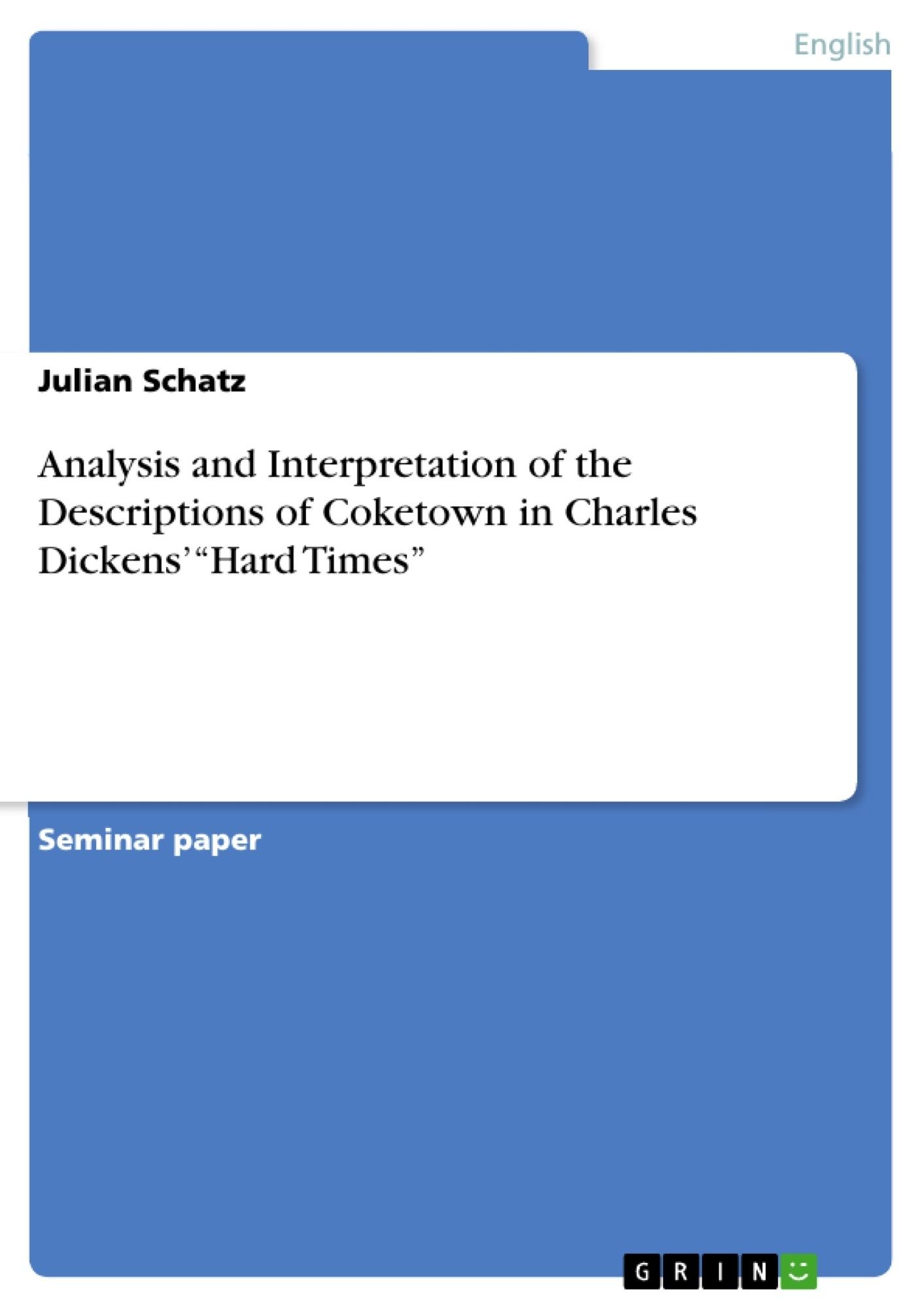 charles dickens coketown essay Riassunto in inglese della descrizione della città industriale di coketown, scritta da charles dickens.