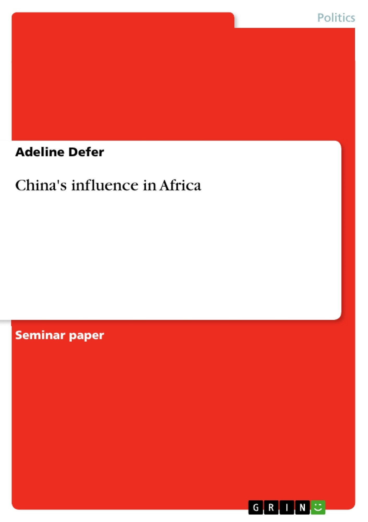 thesis china africa The environmental impact of china's investment in africa david h shinn 17 david shinn, china in africa: environmental implications and the law, int.