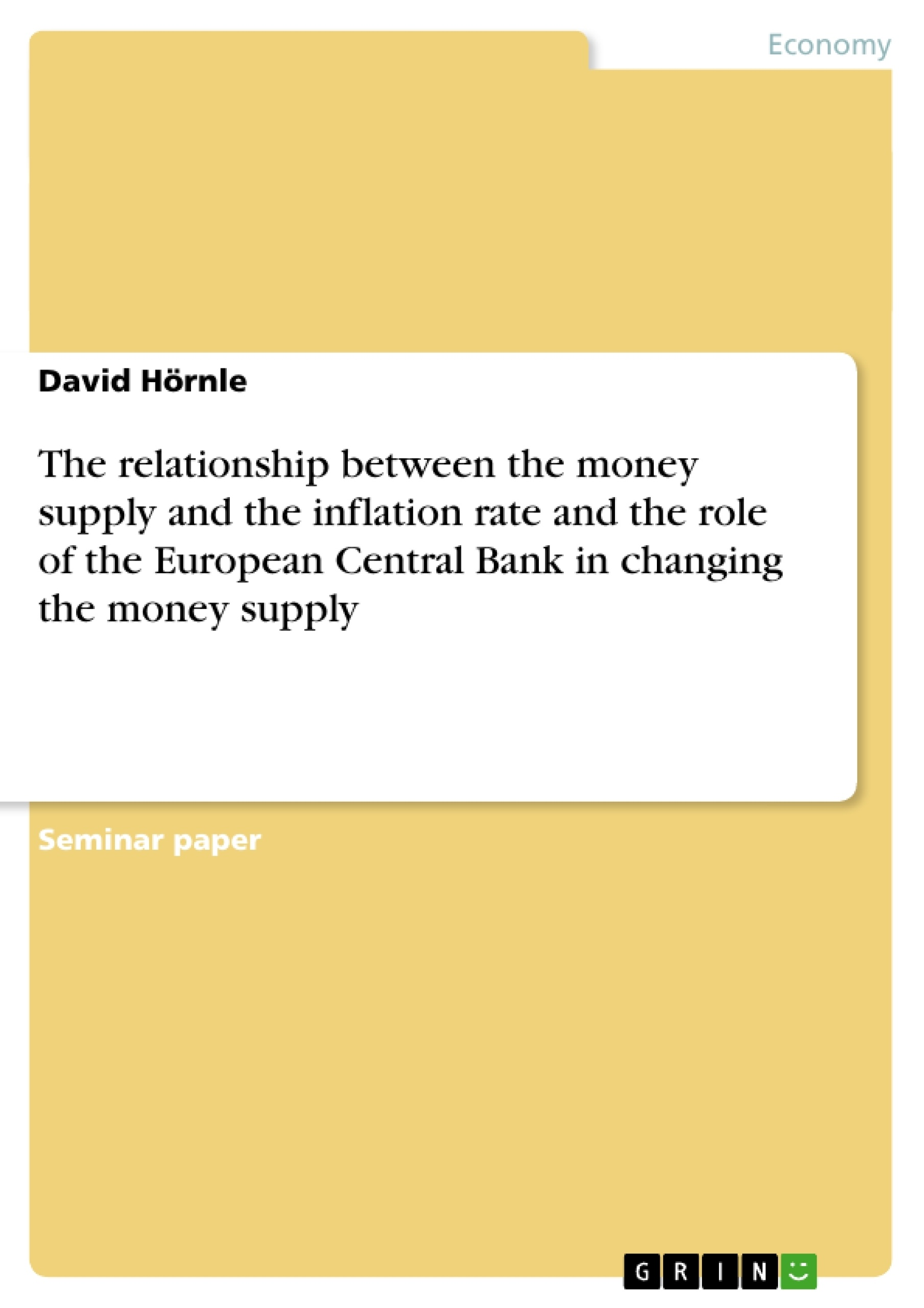 money supply and inflation relationship