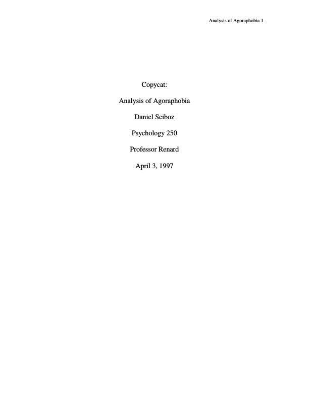 Abnormal psychology essays