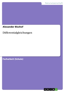 Titel: Differentialgleichungen