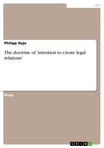 Title: The doctrine of 'intention to create legal relations'