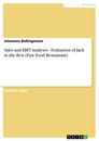 Title: Sales and EBIT Analyses  -  Evaluation of Jack in the Box (Fast Food Restaurant)
