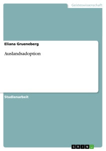 Titel: Auslandsadoption