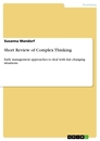 Title: Short Review of Complex Thinking