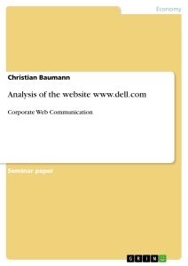 Title: Analysis of the website www.dell.com