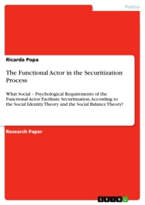 Title: The Functional Actor in the Securitization Process