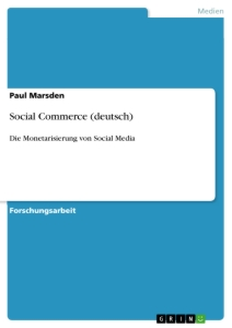 Titel: Social Commerce (deutsch)
