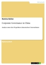 Title: Corporate Governance in China