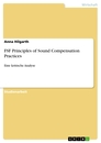 Title: FSF Principles of Sound Compensation Practices