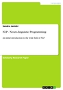 Title: NLP - Neuro-linguistic Programming