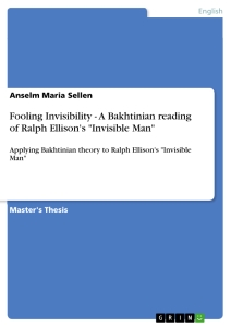 blindness and invisibility in invisible man essay Invisible man essay invisible man essay throughout invisible man the title of an invisible man comes back to illustrate the invisibility of the narrator and it.