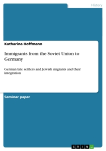 Title: Immigrants from the Soviet Union to Germany