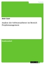 Title: Analyse der Softwareanbieter im Bereich Projektmanagement