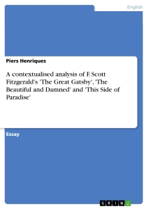 What is a good title for a research paper on F.Scott Fitzgerald?