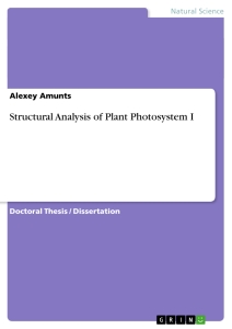 Title: Structural Analysis of Plant Photosystem I