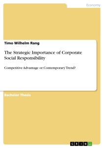 the importance of corporate social responsibility essay Many business owners and managers see corporate social responsibility (csr) why social responsibility is important to your business.