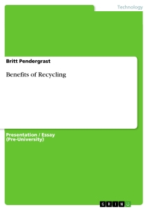Thesis Statements on Recycling