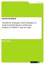 """Title: Translation Strategies and Techniques in Audiovisual Translation of Humour: Analysis of """"Shrek 2"""" and """"Ice Age"""""""