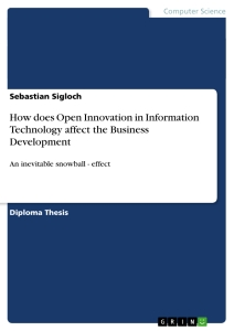 Bachelor thesis open innovation