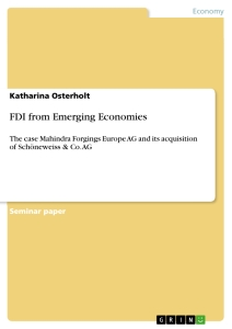Title: FDI from Emerging Economies
