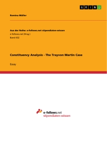 Title: Constituency Analysis - The Trayvon Martin Case
