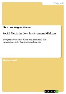Titel: Social Media in Low Involvement-Märkten