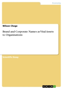 Title: Brand and Corporate Names as Vital Assets to Organisations