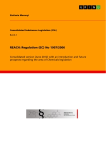 Title: REACH: Regulation (EC) No 1907/2006