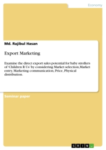 Term paper on how to export