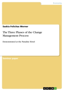 the three phases of the change management process publish your title the three phases of the change management process