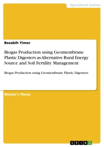phd thesis on biogas production Opportunities for a sustainable rural energy supply through renewable energies in developing countries socio-economic feasibility study of the operation of a multi-functional platform.