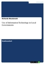 Titel: Use of Information Technology in Local Governments